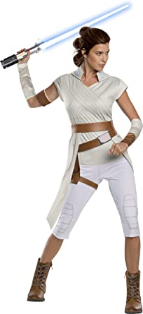 Amazon Com Rubie S Star Wars The Rise Of Skywalker Adult Rey Costume Clothing