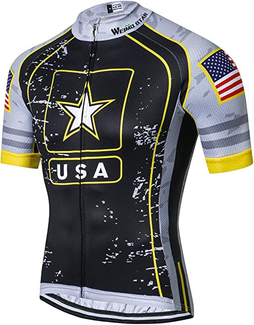Performance Mens Blue Bike Cycling Jersey Shirt Size XXXL Short Sleeve Zip