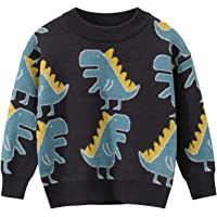 Suéter de punto de dinosaurio para niños, para otoño e invierno