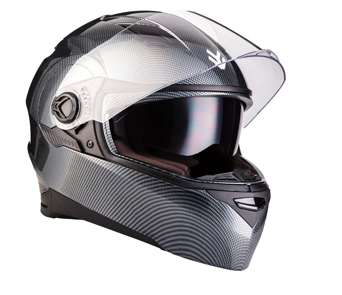 "Armor · AF-77 ""Carbon"" (gray) · Casco moto Integrale · Scooter Urban Cruiser FULL-FACE HELMET motocicleta · ECE certificado · Separate Visors · ..."