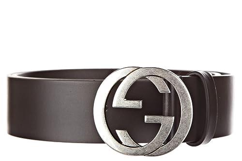 eccezionale gamma di stili e colori acquista autentico risparmia fino all'80% Gucci cintura uomo vera pelle nuova originale doppia g ...