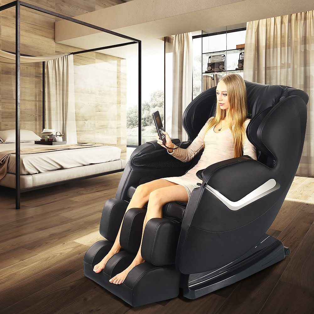 Real Relax Massage Chair Recliner - Full Body Shiatsu, Zero Gravity, Armrest linkage system,with Heater (Black) by Real Relax (Image #7)