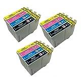 PerfectPrint Compatibile Inchiostro Cartuccia Sostituire Per Epson WorkForce WF-2010W WF-2510WF WF-2520NF WF-2530WF WF-2540WF 16 XL (Nero/Ciano/Magenta/Giallo, 12-Pack)