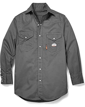 95c01ca999de Amazon.com  RASCO Men s Flame Resistant Long Sleeve Work Shirt Big and Tall  - Gr754-Tll  Clothing