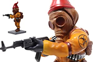 Chernobyl Gasmask Combat Gnome - Funny Unique Fallout Garden Gnomes Massacre - a Great Gardening Statue Figurine Decoration - Lawn Ornament Figure Sculpture for Indoor Outdoor Home Yard Office - 10