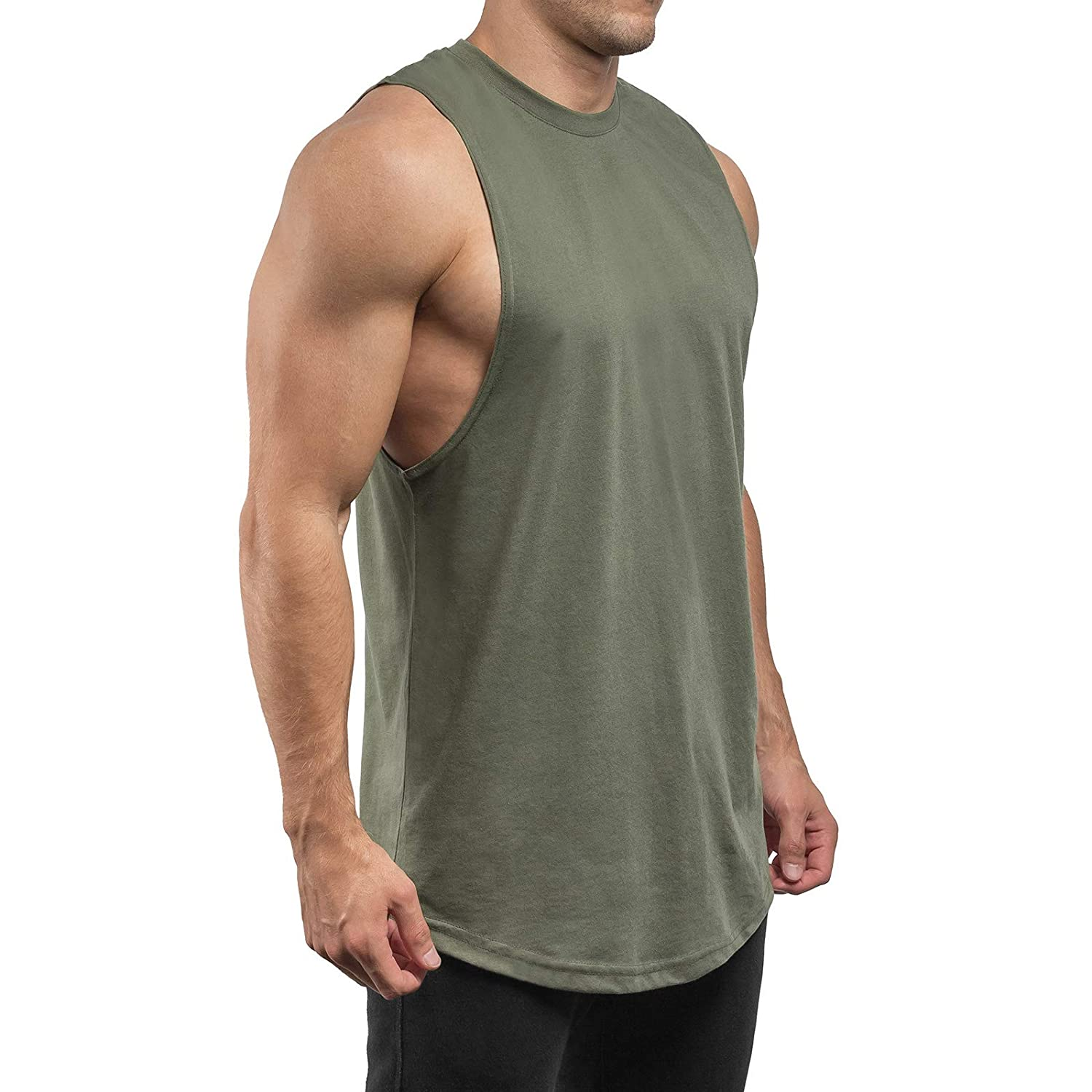 Sixlab Round Cut Off Tank Top Muskelshirt Gym Fitness