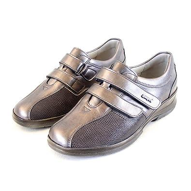 Stuppy Damen Schuhe Halbschuhe Leder Stretch Taupe Fußbett Wechselfußbett 15509