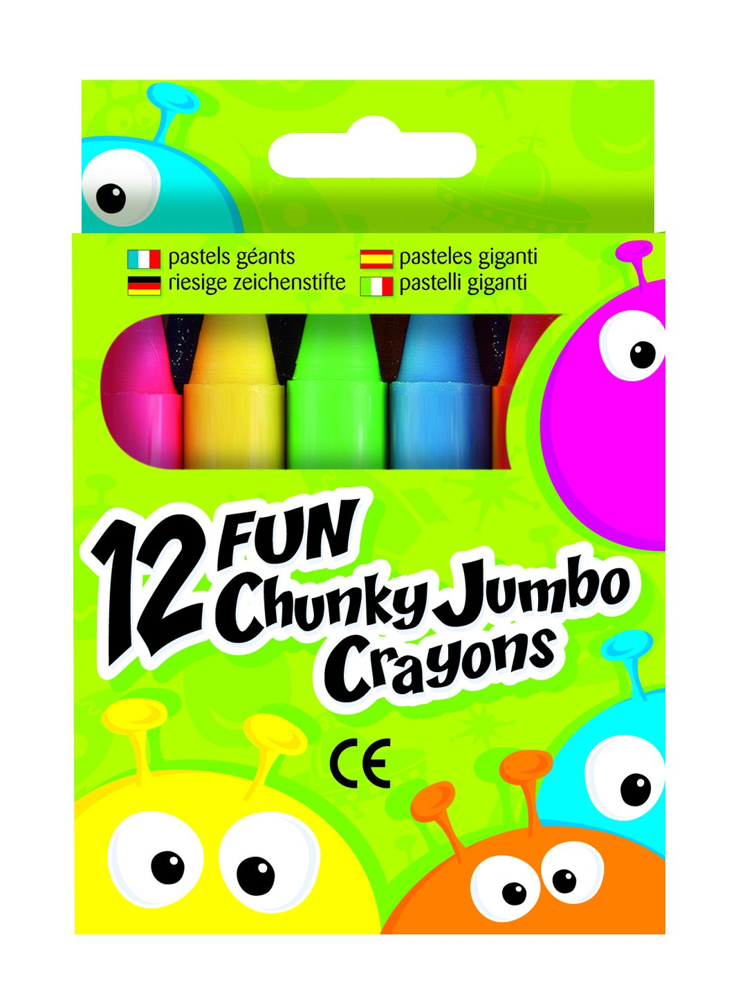 Fun Chunky Pastelli Jumbo (Confezione da 12) Premier Plus GPP006