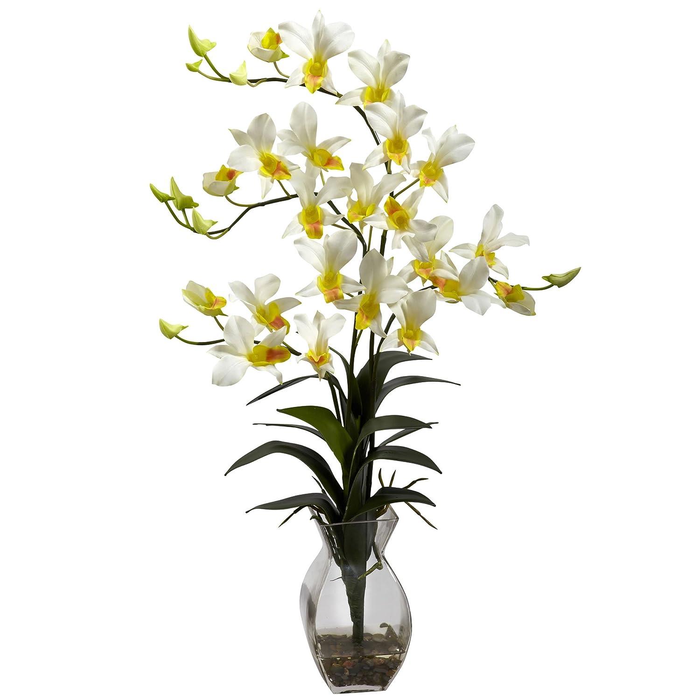 花瓶アレンジメントと自然に近い1292-CRデンドロビウム蘭 B00FUNEQRA