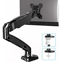 FITUEYES Monitor Arm Single Desk Mount Stand Full Motion LCD Computer Stand Gas Spring Swivel & Tilt Height Adjustable…