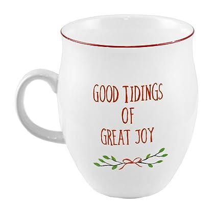 good tidings of great joy fox christmas coffee mug - Christmas Coffee Cups