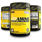 MAN Sports ISO-AMINO BCAA Amino Acid Powder, Dorks, 30 Servings, 210 Grams