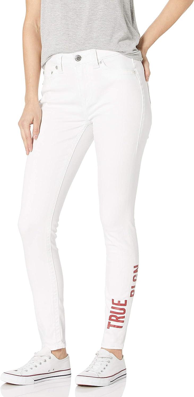 True Religion Women's Jennie High Rise Curvy Fit Skinny Leg Jean