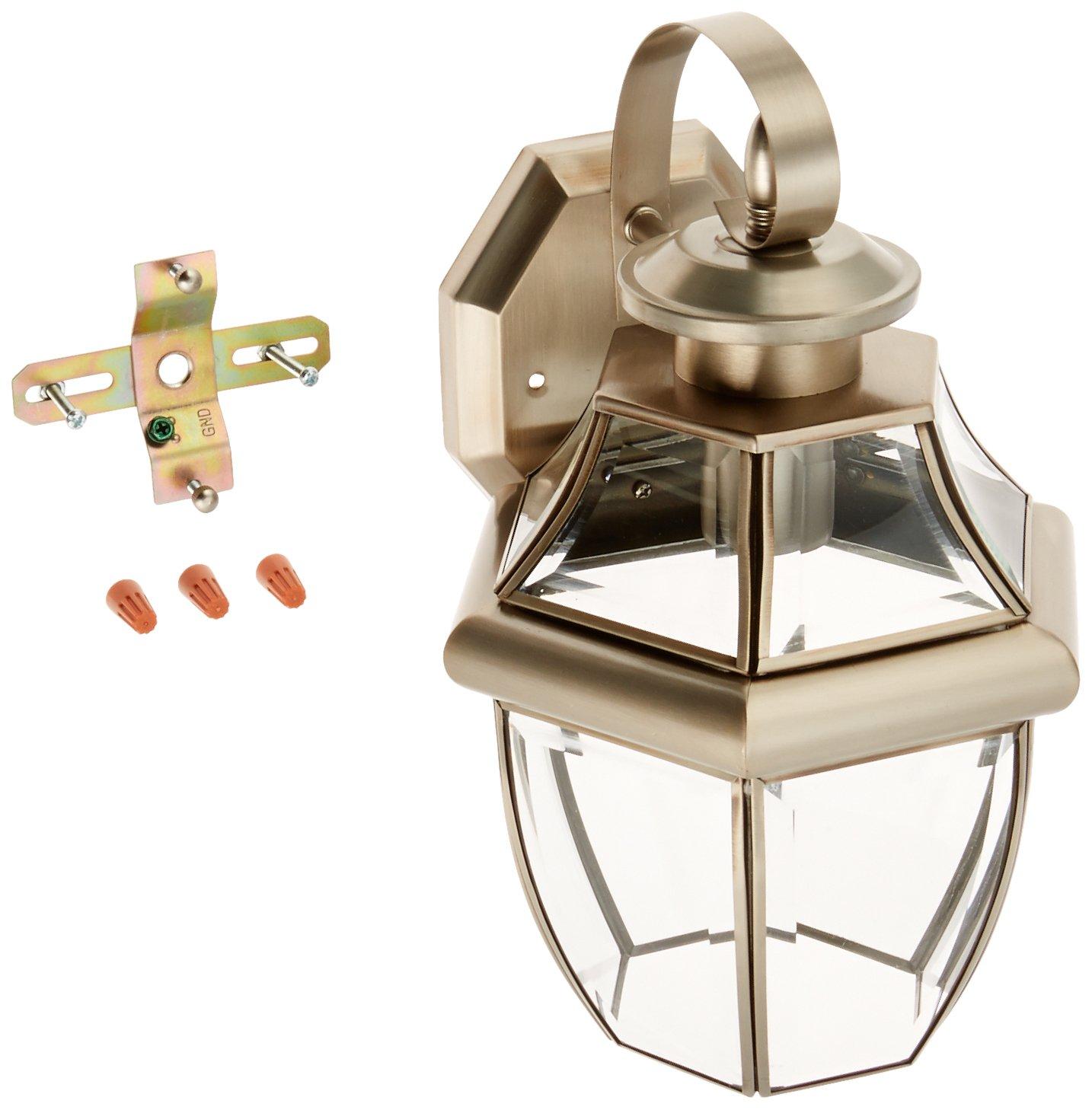 Trans Globe Lighting 4310 BN Outdoor Courtyard 13'' Wall Lantern, Brushed Nickel by Trans Globe Lighting