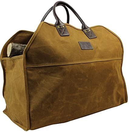 Amazon.com  Heavy Duty Wax Canvas Log Carrier Tote d2f7404d2f1b1