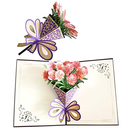 Amazon Great Dipper 3d Pop Up Cards For Mom Carnation Cards