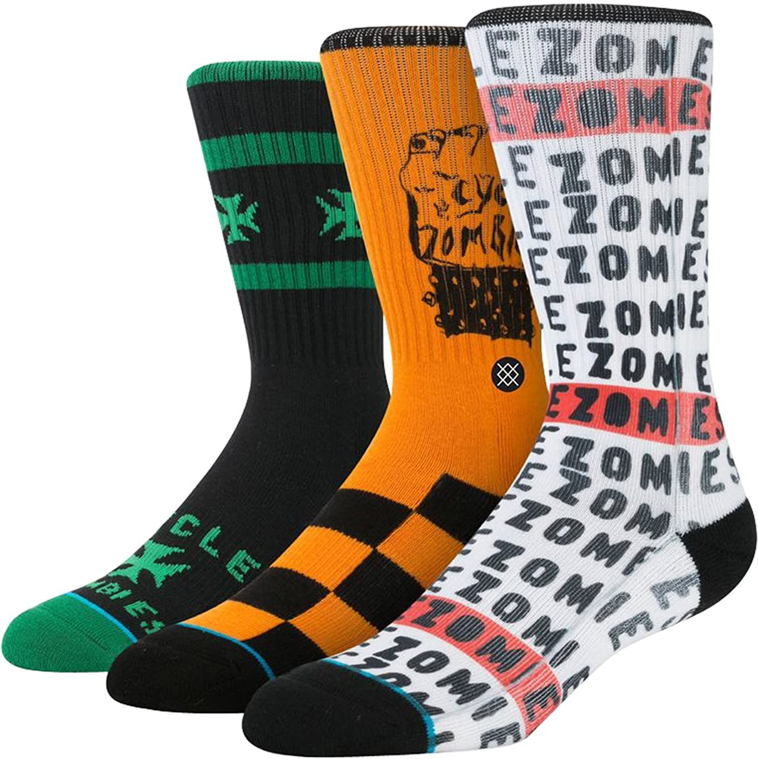 Stance Mens Cycle Zombers Socks White at Amazon Men s Clothing
