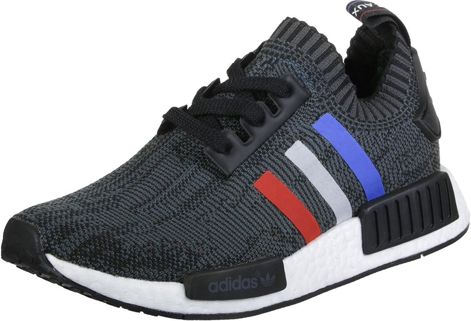 ADIDAS NMD R1 CORE BLACK SOLID GREY WHITE RED ULTRA