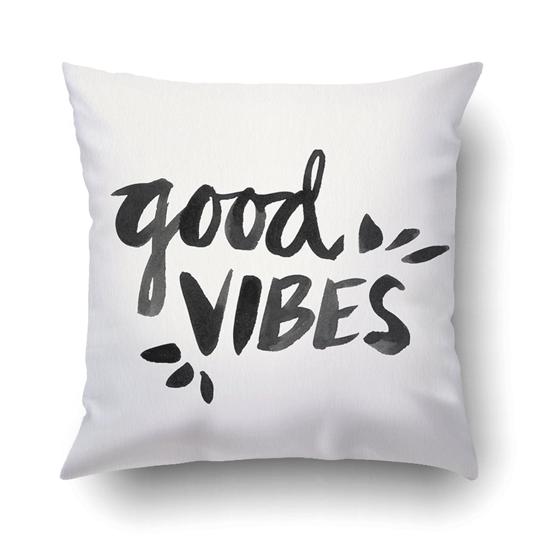 Amazon.com: emvency fundas de almohada Dec Good Vibes mano ...