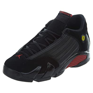 27a9d2513435 Nike Air Jordan 14 Retro Big Kids  Shoes Black Varsity Red Black 487524