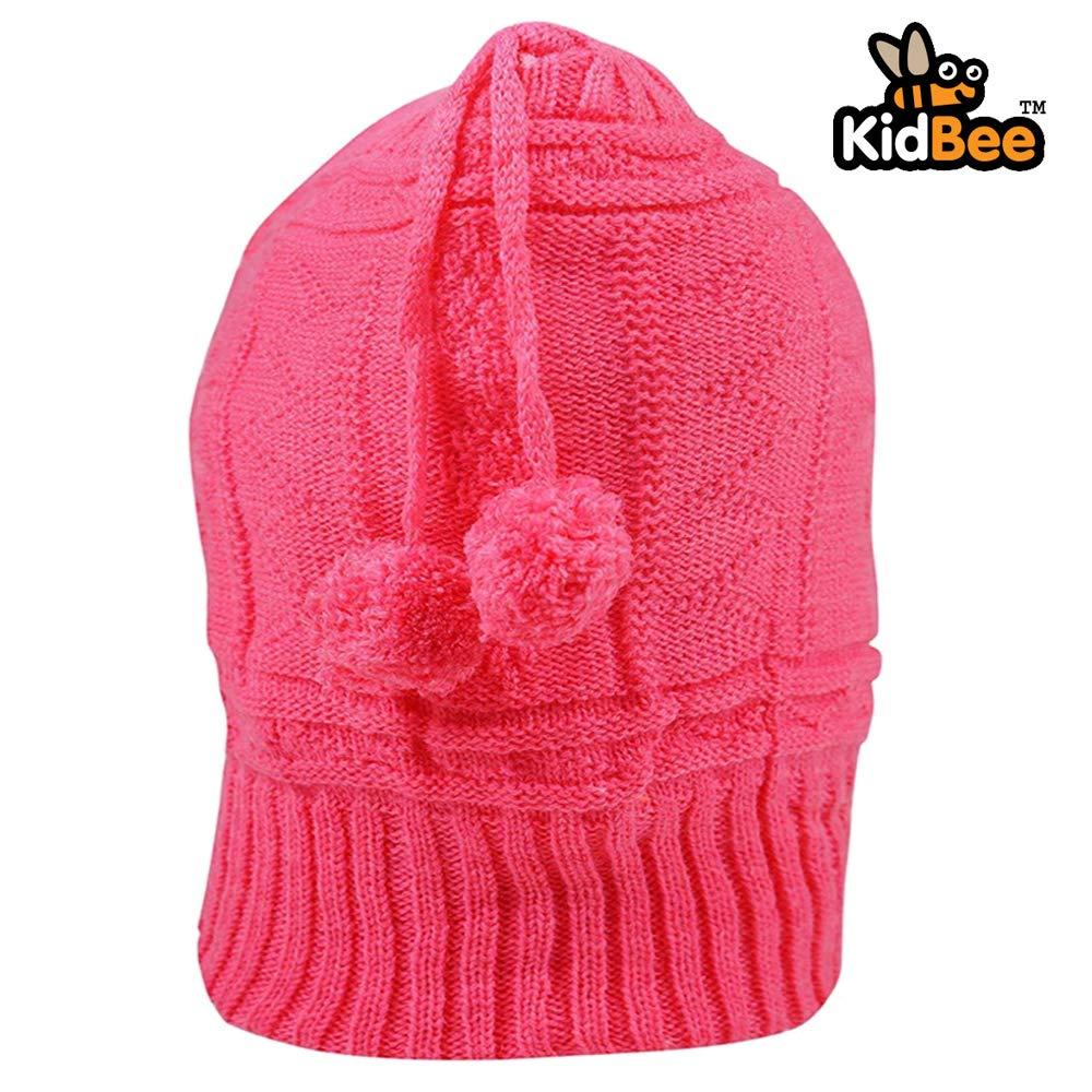 075610bed Kidbee Baby Soft Woolen Monkey Style Cap (Rani