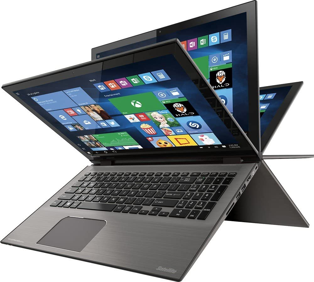 "Toshiba Satellite Radius 2-in-1 Flagship Convertible Laptop, 15.6"" 4K Ultra HD Touchscreen Display, Intel Core i7 6500U, 12GB RAM, 1TB HDD, 802.11AC, Backlit Keyboard, Windows 10"