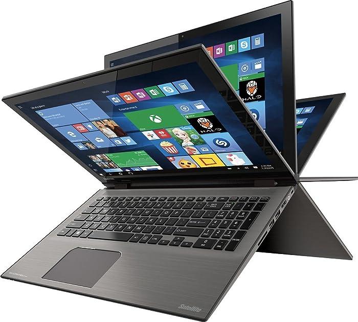 "2016 Toshiba Satellite Radius P55W 2-in-1 15.6"" 4K Ultra HD Touchscreen Laptop PC, Intel i7-6500U 2.5 GHz, 12GB RAM, 1TB HDD, Backlit Keyboard, Webcam, Bluetooth, WIFI-AC, HDMI, Windows 10"