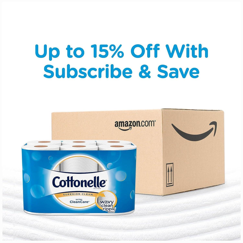 Cottonelle Ultra CleanCare Toilet Paper Strong Biodegradable Bath Tissue 24 Mega Rolls