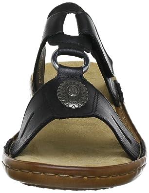 26ab7c89c7ec Rieker Damen 60872 Pantoletten, (schwarz   00), 37 EU  Amazon.de  Schuhe    Handtaschen