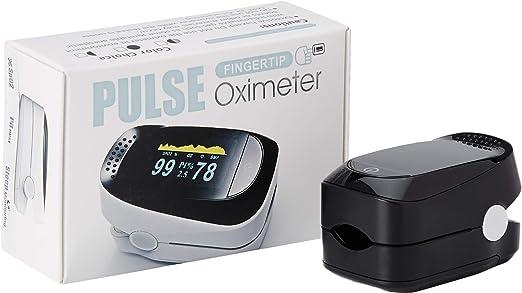 Wegeek WG-001 - Oxímetro y Pulsioximetro de dedo profesional portátil con pantalla LCD para mediciones de pulso (PR) y saturación de oxígeno (SpO2)
