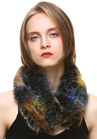 vogueearth MujerFaux Pelaje Neck Bufanda Fular For Invierno Abrigo Chaqueta Collar Faux-Zorro Fur Multicolor-2: Amazon.es: Ropa y accesorios