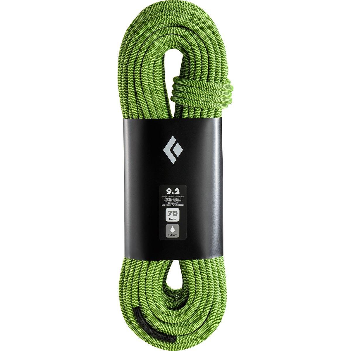 ブラックダイヤモンド9.2 MMダイナミッククライミングロープ B01MA3WXCM  Dual Yellow Green 70 M