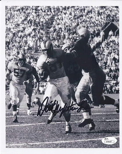 8b5be79ed98 Amazon.com: Dick Night Train Lane Autographed Signed Detroit Lions ...
