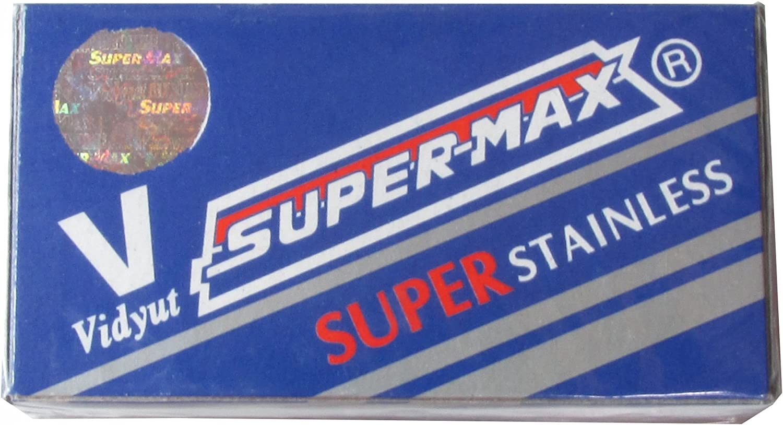 100 Cuchillas de afeitar Super-Max Super Stainless