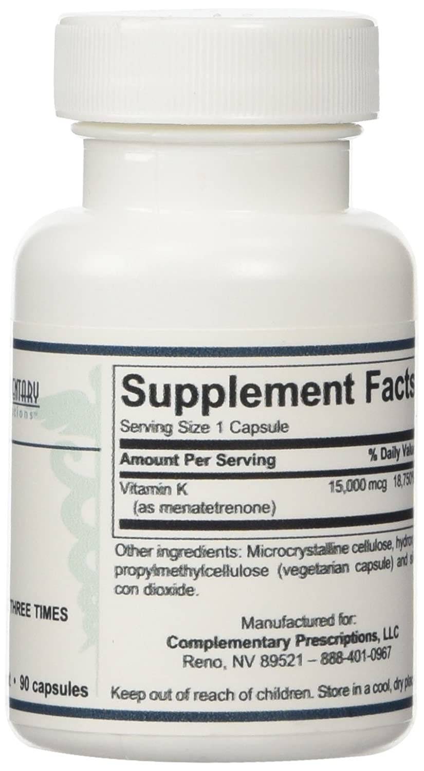 Amazon.com: Ultra K2 (Menatetrenone) - 90 Capsules by Complementary Prescriptions: Health & Personal Care