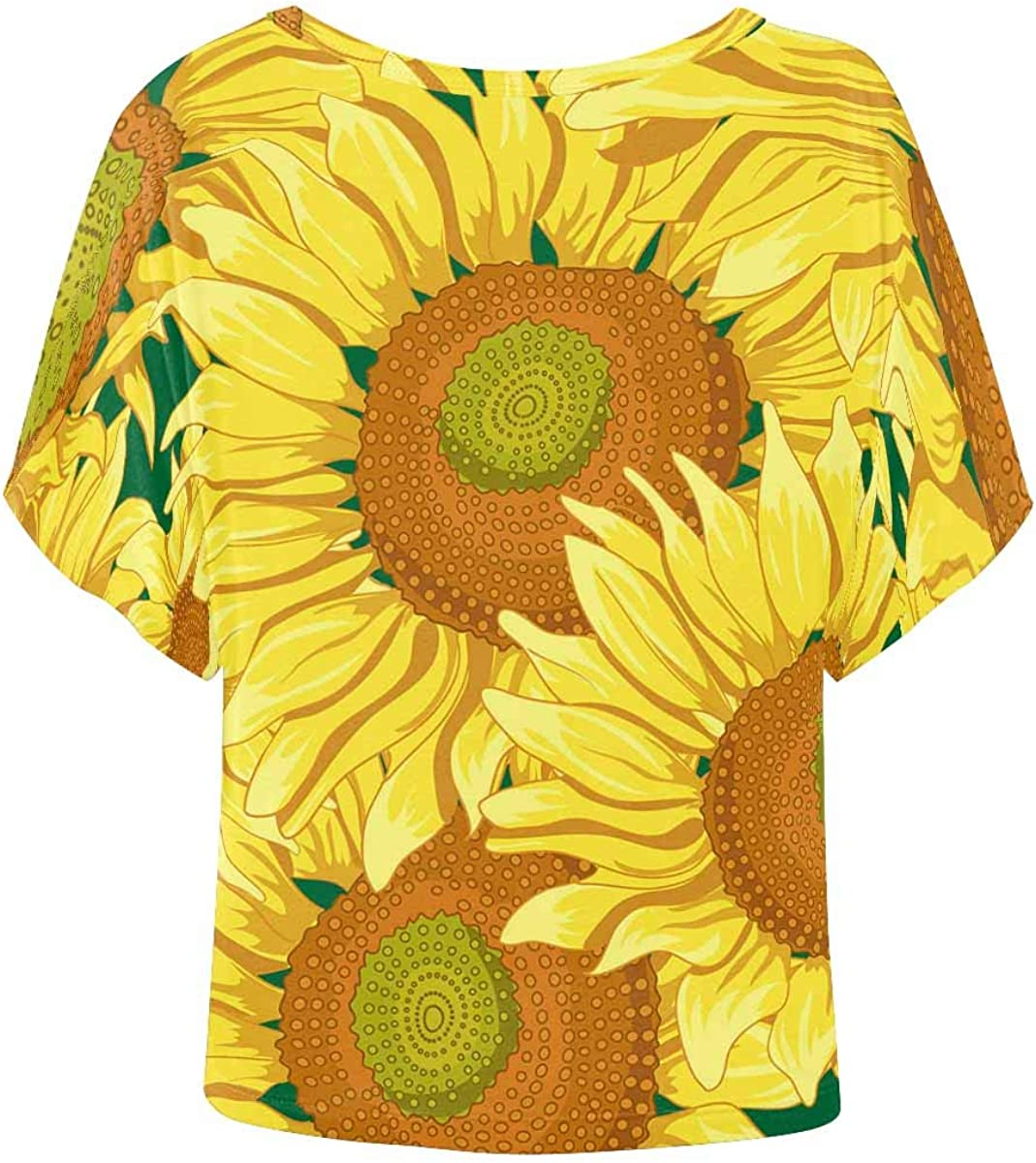 XS-XL INTERESTPRINT Youth T-Shirts Sunflower Pattern