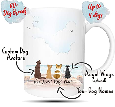 e28172cf Personalized Dog Mug - Customizable Pet Name and Picture Custom Coffee Mug  - Perfect Gift Idea For Dog Lovers, Fur Mom or Dad, In Memory of Fur  Babies, ...