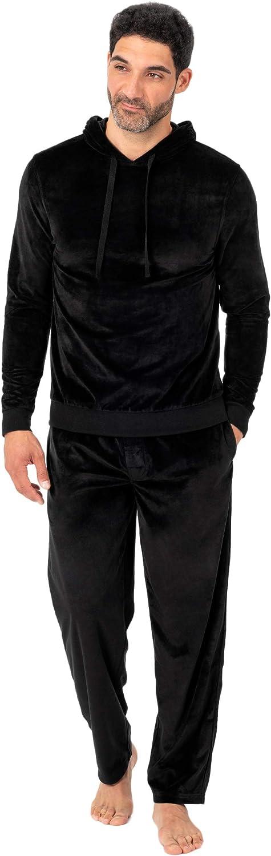 Jockey Mens Velour Pullover Hoodie Top Pajama Top