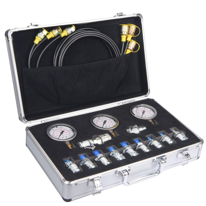 JWGJW Hydraulic Tester Coupling Hydraulic Pressure Test Kit