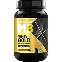 MuscleBlaze Whey Gold Protein, 1 kg Rich Milk Chocolate