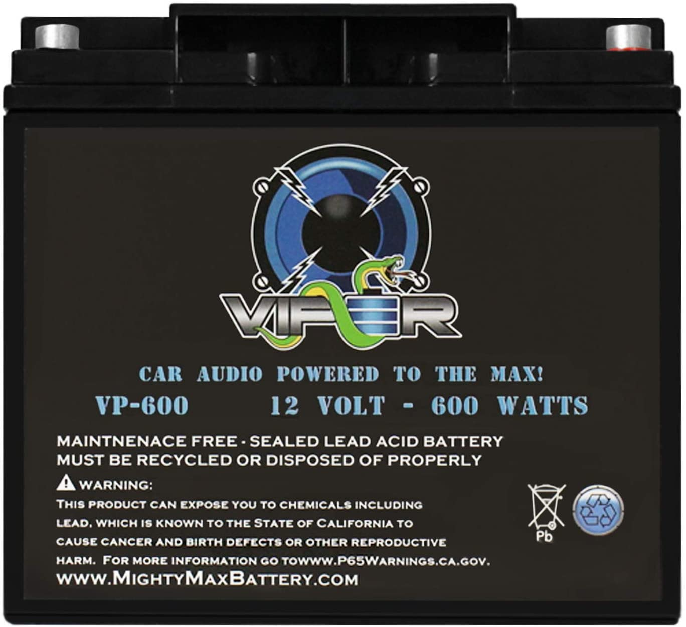 Mighty Max Battery Viper VP-600 Watt Car Audio Battery