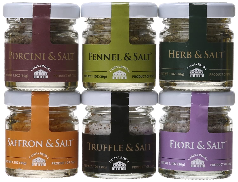 Amazon.com : Casina Rossa Gourmet Sea Salt Gift Pack - 6 x 1.1 oz ...