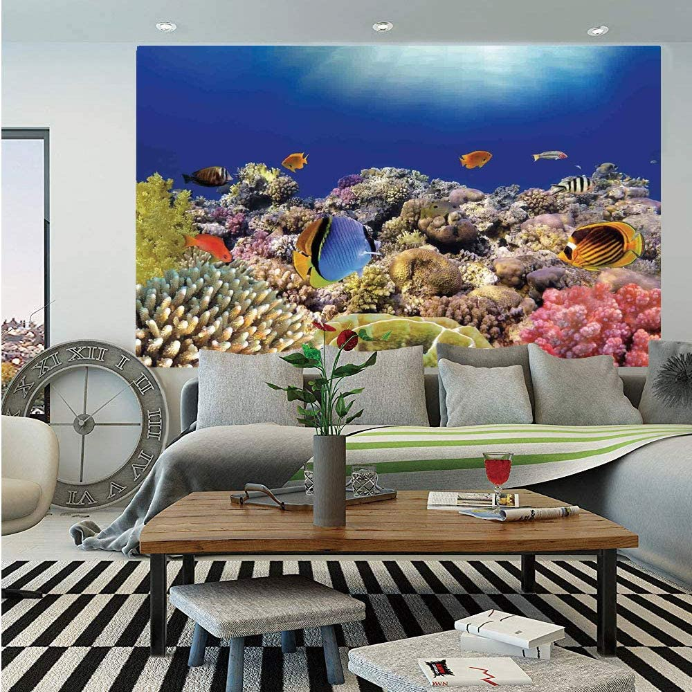 Amazon Com Sosung Ocean Removable Wall Mural Wild Sea Life