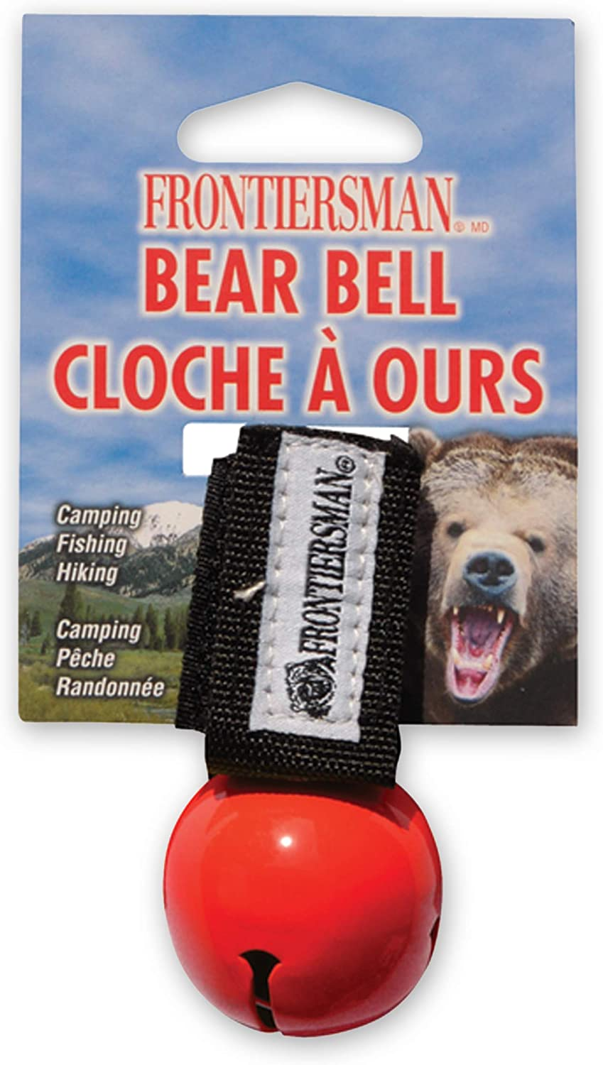 Helps Prevent Startling Bears on Trail Reduce Risk of Attack SABRE Frontiersman Bear Bell with Magnetic Silencer