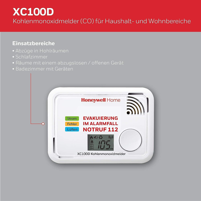 Honeywell Home XC100D-DE-A rilevatore di monossido di carbonio