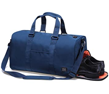 a3699529ae6fd Sporttasche Gym Bag Tasche Herren Damen Reisetasche Dufflebag Kaukko  stilvolle Fitness Tasche Weekend Reisetasche mit Separaten