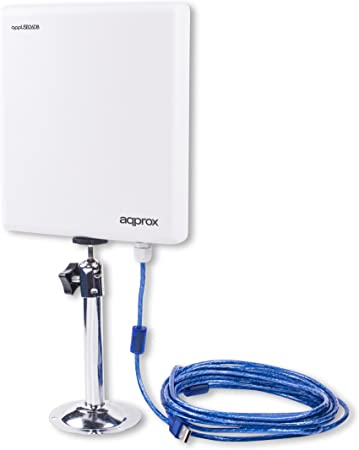Approx APPUSB26DB - Adaptador Wireless USB (26 dBi, 2000 MW, 150 Mbps), Color Blanco