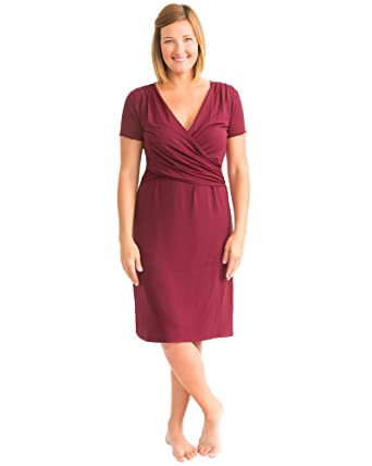 400cdc389e6b1 Kindred Bravely Angelina Ultra Soft Maternity   Nursing Nightgown Dress  (Cabernet