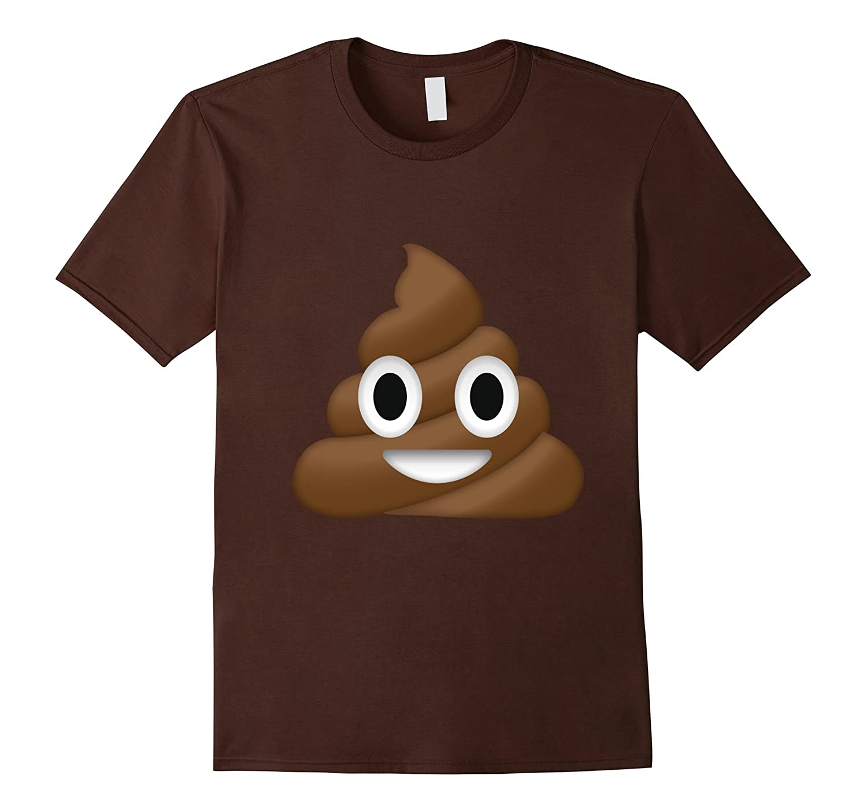 Poop Emoji Face T-Shirt Funny Halloween Emoji Costume Tees-FL