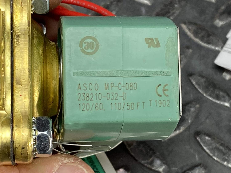 1//2 Pipe Size 5//8 Orifice 4 Cv Flow 120V//60 Hz 110V//50 Hz Nitrile Butylene Sealing 2-Way Normally Closed ASCO 8210G002-N Brass Body Pilot Operated Oxygen Service Solenoid Valve